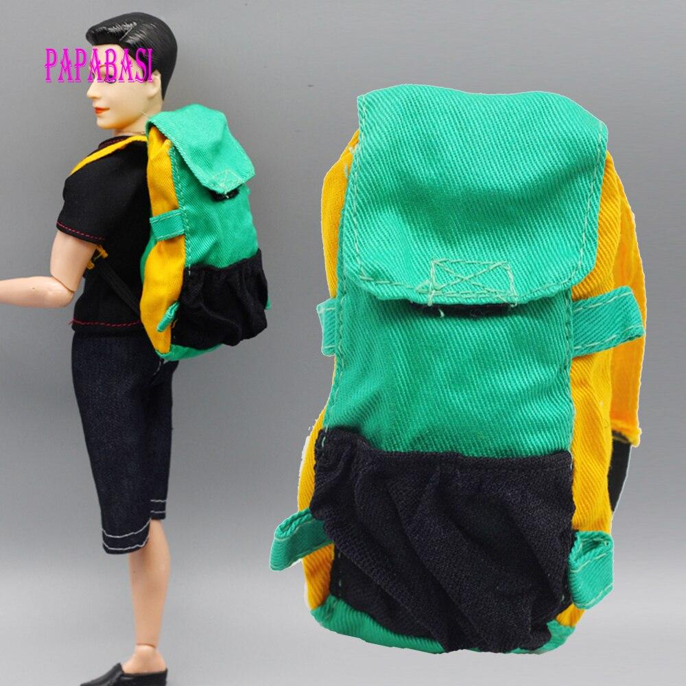 1pcs Blue Doll Knapsack Marines Accessories Bag For Barbie Boy Male Ken Doll For Lanard 1/6 Soldier Backpack Best Gift s-069