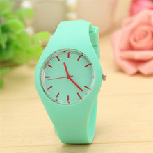 2017 NEW  Womens Leisure Sports Candy-colored Jelly Watch Silicone Strap dropship
