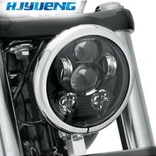 For 7 Sporster XL 1200 883 Dyna Glide Fat Bob Street Bob Harley Led 5-3/4 5.75LED Projection Headlight 5 twin dual daymaker led headlight for harley dyna fat bob fxdf model daymaker led lamp 5 fat bob projector led headlights