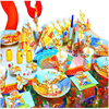 90pcs Winnie The Pooh Kids Disposable Paper Cups Plates Party Pack Birthday Party Decoration Set Party