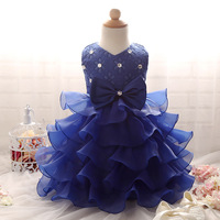 Baby Girl Flower Girl Dress Ruffle New Girl Sequins Birthday Party Princess Dress High Quality Ball