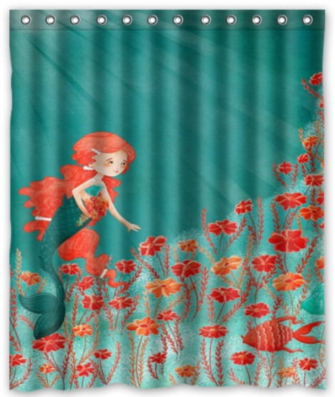 Custom Anim The Little Mermaid Ariel Shower Curtain 60 Inch By 72 In Aus