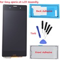 For Sony Xperia Z3 LCD D6603 D6653 L55t LCD Display Touch Screen with Digitizer Assembly + 2x Adhesive + Tools Free track Number