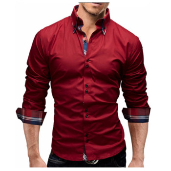Men Business Slim Fit Dress Shirt