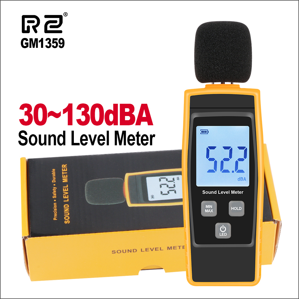 RZ Sound Level Meters Digital Sound Level Meter Sonometros Noise Audio Level Meter 30-130dB Decibels GM1359 Mini Sound Meter