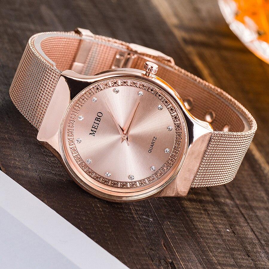 New Luxury European Style Women Watch Stainless Steel Mesh Ladies Quartz Watches Casual Dress Female Wristwatches Reloj Mujer