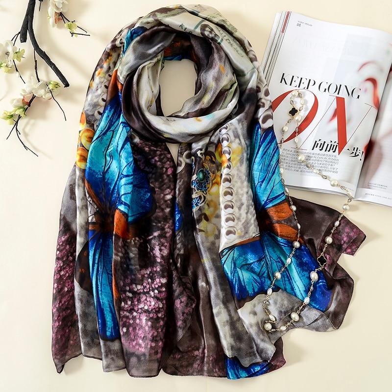 Women Scarf luxury brand shawl Long Silk Scarves Summer Bufanda Mujer Pashmina Tippet foulard 180*90cm