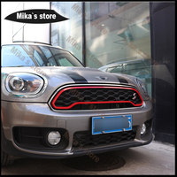 New Car Styling Outdoor Front Grille Stripe Frame Trim Cover Sticker For Mini Cooper S F60