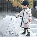 Mädchen Jungen Regenmantel Kind Regenbekleidung Wasserdicht Transparent Regenmantel Regen Anzug Abdeckung Kinder Regenponcho Poncho Feminino 50KO111