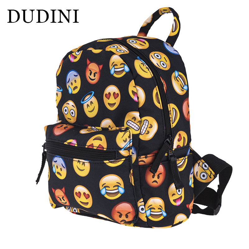 DUDINI Oxford Cloth Design Backpack Fashion Zipper Mini Backpacks For School Bag 3D Printing Children' s Emoji Bags Shoulder Bag polyester 600d oxford cloth borsa termica pranzo lunch cooler thermal lunch bags tote shoulder bag with zipper bolsa isotermica