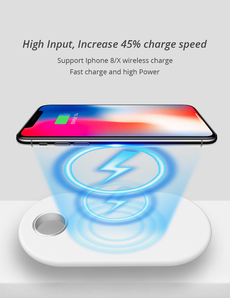 2 in 1 Wireless Charge Pad For Iphone X Iphone 8 Samsung S9 Samsung S8 DIY Disassemble Apple Watch wireless Charge Pads (7)