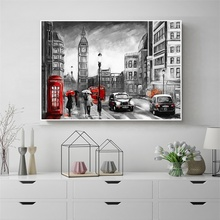Laeacco London Street Posters and Prints Canvas Calligraphy Painting Nordic Home Decoration Wall Art Living Room Decor