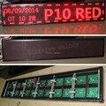 DIY Red P10 Semi-ao ar livre CONDUZIU o sinal de exibição, 200 cm * 40 cm (Semi-ao ar livre LED Vermelho módulo + 5 V da fonte de alimentação + cartão de controle + cabo)