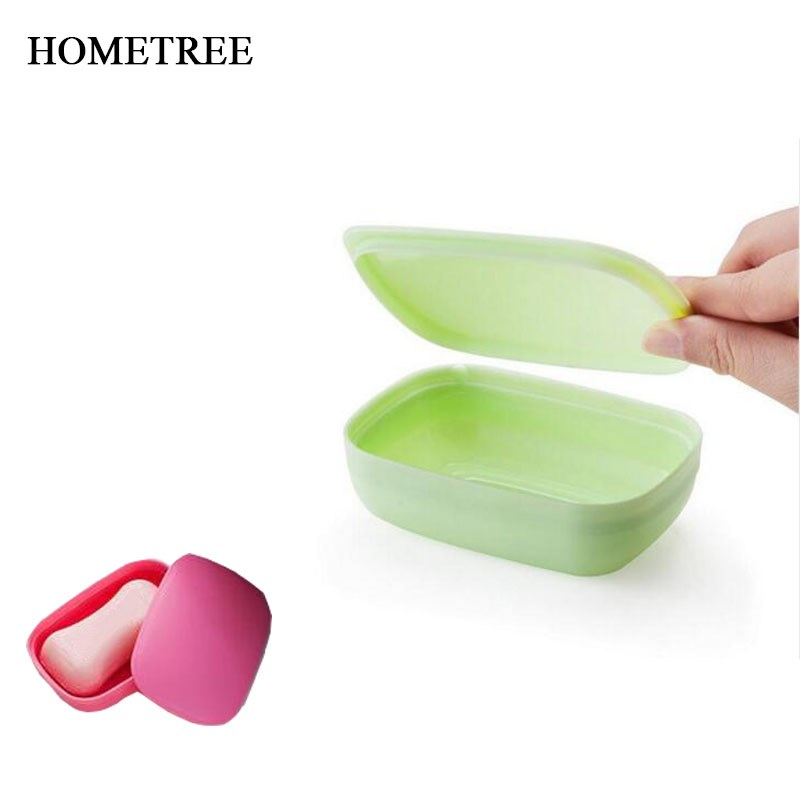 HOMETREE New Travel Handmade Soap Case Dishes Waterproof Leakproof Soap Box With Cover Home Bathroom Accessories 4 Color H21