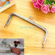 New Silver Handle Sewing Purse Handbag Coins Bags Metal Kiss Clasp Frame Findings 15cm #Y51#