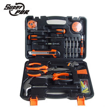 Super PDR 45 pcs Multifunctional household tools set screwdriver digital electroprobe claw hammer wrench pliers home repair tool
