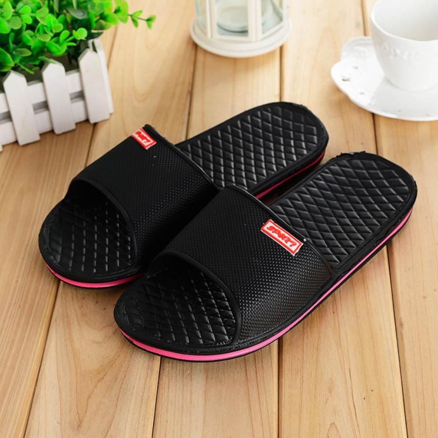 SAGACE shoes Men 2018 Men's Solid Flat Bathtub Slippers Summer - Men's Shoes