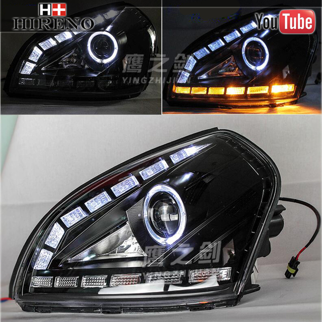 car styling head lamp for 2005 2009 hyundai tucson. Black Bedroom Furniture Sets. Home Design Ideas