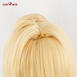 Image 4 - 先行販売uwowoネロかつら運命グランド注文運命滞在夜の髪35センチメートルゴールデン耐熱コスプレウィッグ女の子ネロサーベルの毛