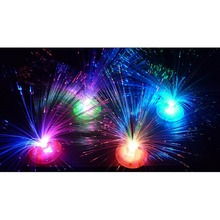 Color Changing LED Fiber Optic Night Light Lamp Colorful Stand Home Decor IA905 P0.4