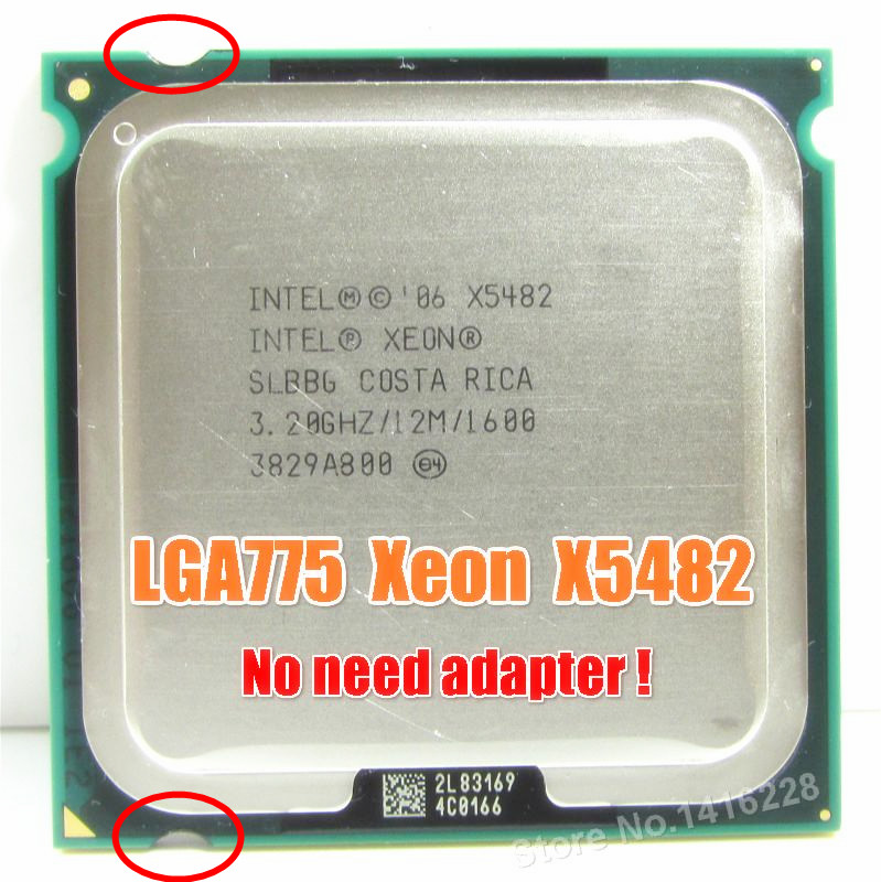 X5482 3.2 GHz 12M 1600M equal to LGA775 Core 2 Quad Q9650 CPU works on LGA775 motherboard