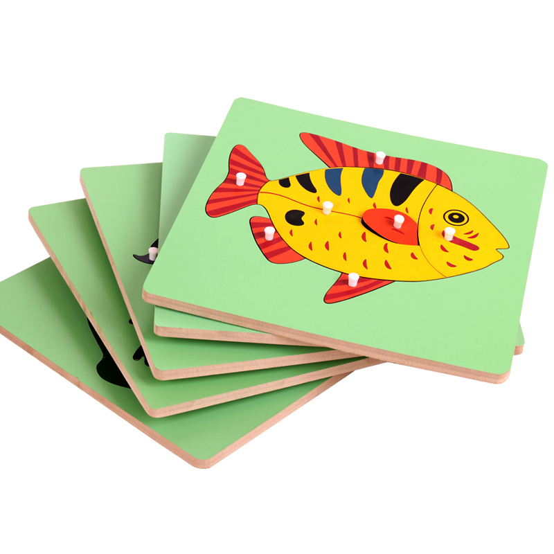 Home Montessori Materials Biology Animal Puzzle Frog Montessori Toys For Infants Early Learning Educational Toys For Children Ud0964h