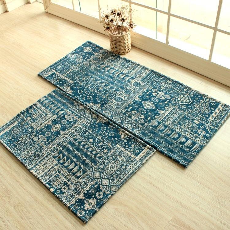 Hause teppich Weihnachten teppich blau Küche teppiche Antislip ...