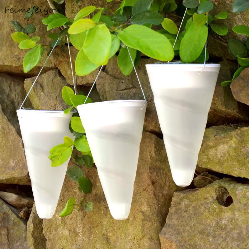 Feimefeiyou Outdoor lighting cone shape Garden solar lights Hang lamp Holiday decoration Waterproof RGB/white/warm white
