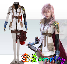 COSPlAY Japanese game Final Final Fantasy Eclair Farron /Lightning suit (12pcs) Men's wear/women's wear Cos Clothes