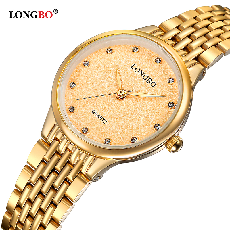 LONGBO New Fashion Luxuary Women Watches Leisure Ladies Waterproof Quartz Charms Steel Band Female Wristwatches Girl Gifts 80273