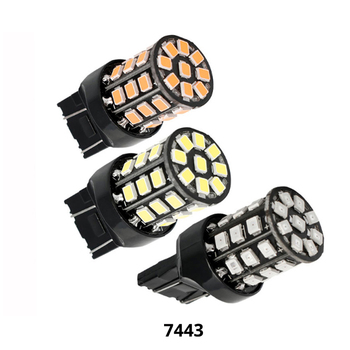 50Pcs Car LED T20 7440 7443 33 SMD 2835 LED Auto LED brake parking rear turn signal daytime running light 12V