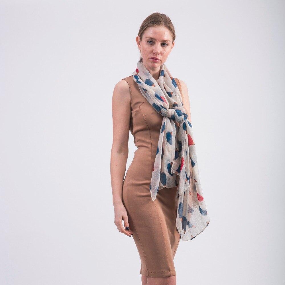 QC  Mode Viscose Hérisson Imprimer femmes écharpe Printemps foulards et châles  echarpe foulard femme filles bandana musulman hijab dans Foulards de Mode  ... c13bdf15cad