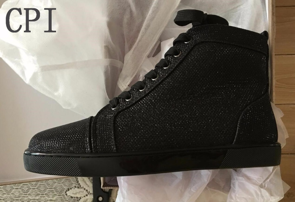 2018 Brand Stylish Men Woman Spike Shoes Black wire Lace Up Ankle Boots High Top Sneakers Men Flat Casual Shoes box