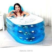 Bathtubs SPA Inflatable Bath Tub with Air Pump,Inflatable bath Lie down pose for body 170cm 70kg or less Foldable Durable tub
