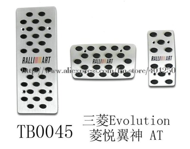 Hot sell Foot car Pedal Set For RALLIART Evolution Lancer EX PAJERO Lancer AT Aluminum pedal