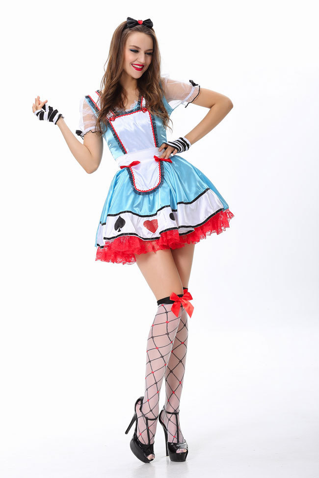 <font><b>Sexy</b></font> Halloween <font><b>Costumes</b></font> Dress Adorable <font><b>Alice</b></font> <font><b>Costume</b></font> Free Shipping 3S1498 Women Beyond <font><b>Wonderland</b></font> <font><b>Costume</b></font> image