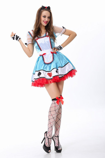 Sexy Halloween Costumes Dress Adorable Alice Costume Free Shipping 3S1498 Women Beyond Wonderland Costume  sc 1 st  AliExpress.com & Sexy Halloween Costumes Dress Adorable Alice Costume Free Shipping ...