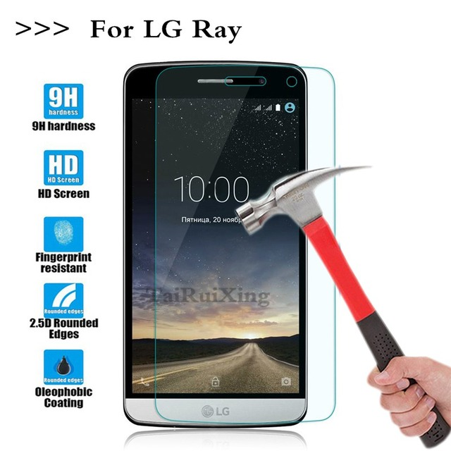 (TaiRuiXing) screen protector pellicola 0.3mm 9 h 25d su premium vetro temperato per lg ray x190 x 190 5.5 pollice