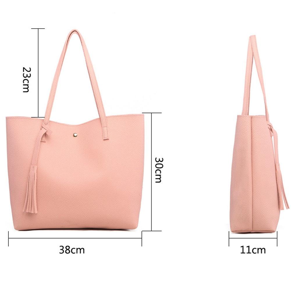 Bedo Pink brand handbag women shoulder bag female casual large tote bags pu artificial leather ladies hobo handbags