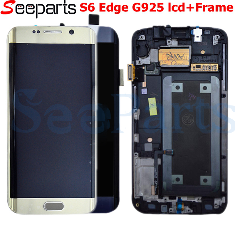 5.1For Samsung Galaxy S6 Bordo LCD G925 G925F SM-G925F Display Touch Screen Digitizer Assembly con telaio Per SAMSUNG S6 Bordo LCD5.1For Samsung Galaxy S6 Bordo LCD G925 G925F SM-G925F Display Touch Screen Digitizer Assembly con telaio Per SAMSUNG S6 Bordo LCD