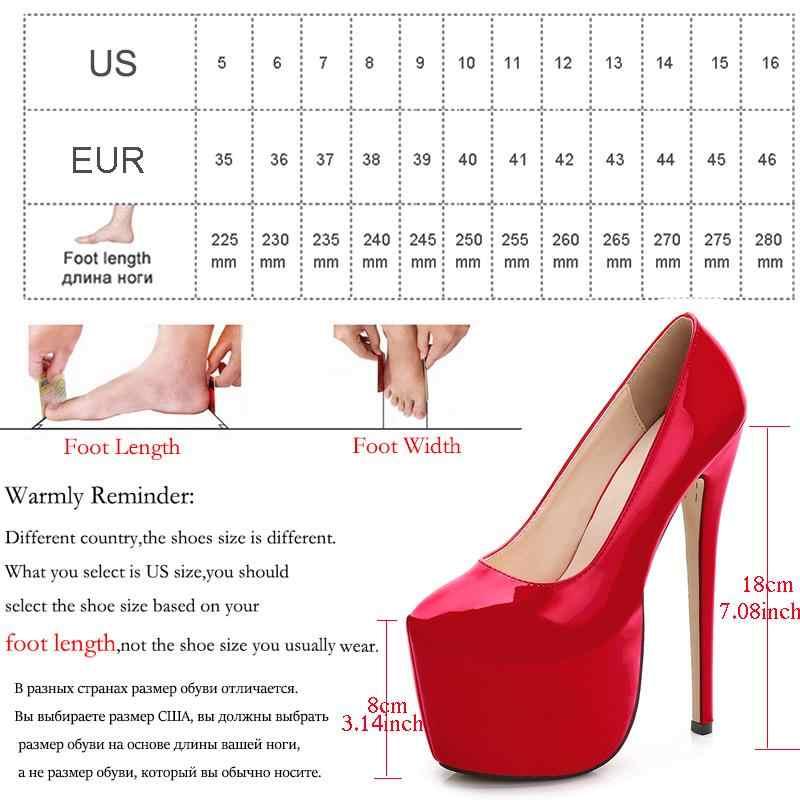 ec302be9433 MAIERNISI Women Pumps High Heels Female Stage platform ladies Shoes Wedding  Pointed Toe Party night club Stilettos 18cm heel