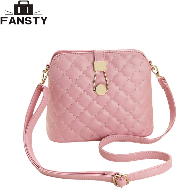 2016 New Small Vintage Single Shoulder Women Bag Female PU Leather Messenger Bags Fashion Shell Crossbody Bag Gor Young Ladies