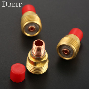 DRELD 3pcs TIG Collets Body Gas Lens 45V43 1/16 & 1.6mm Fit for TIG Welding Torch Consumables SR PTA DB WP 9 20 25 Series 3PK wp 9 wp9 torch complete 4m m16 x 1 5 dinse 10 25 2 pin switch 1 set wp pta db sr 9 sale1