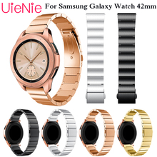 Stainless Steel Strap for Samsung Galaxy Watch 42mm Band with 20mm Width Wristband for Samsung Gear S2 Watch Band bracelet hot hothot watch strap stainless steel watch band connector for samsung galaxy gear s2 rm 720 replacement watch band ot20