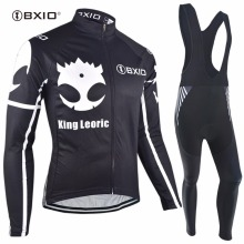 Bxio Thermal Fleece Cycling Sets Winter Outdoor Sport Bicycle Clothing King Leoric Mtb Bike Team Jersey Maillot Ciclismo H109