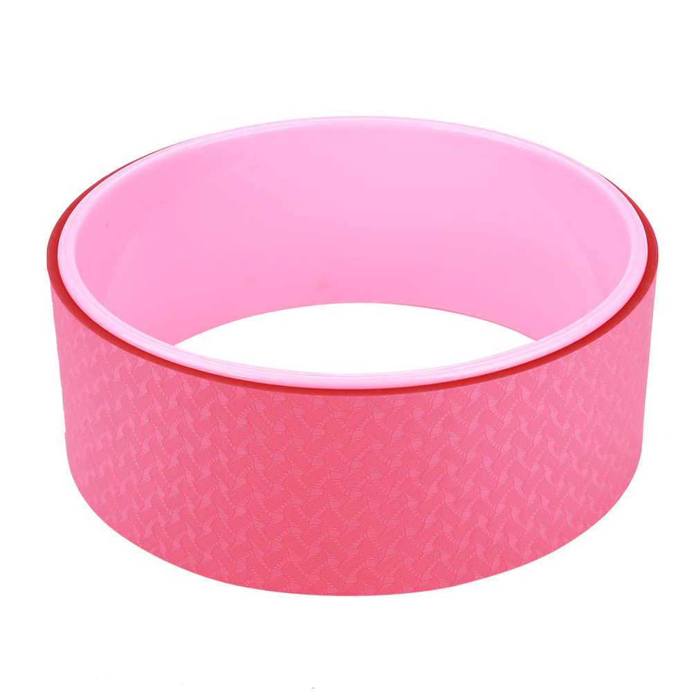 Women Yoga Stretch Bend Balance Wheel Circle for Health Fitness Slimming Exercise Pink Color circle
