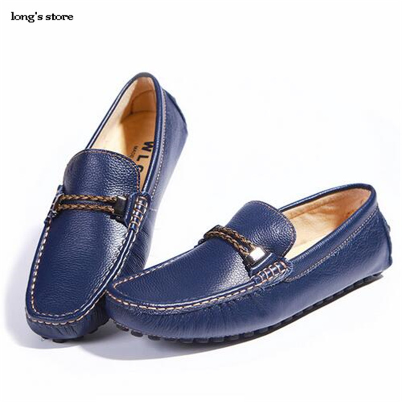 ФОТО CDTS spring/Autumn Men shoes plus size cowhide casual leather genuine leather Moccasins male Flats soft leather lounged Non-slip