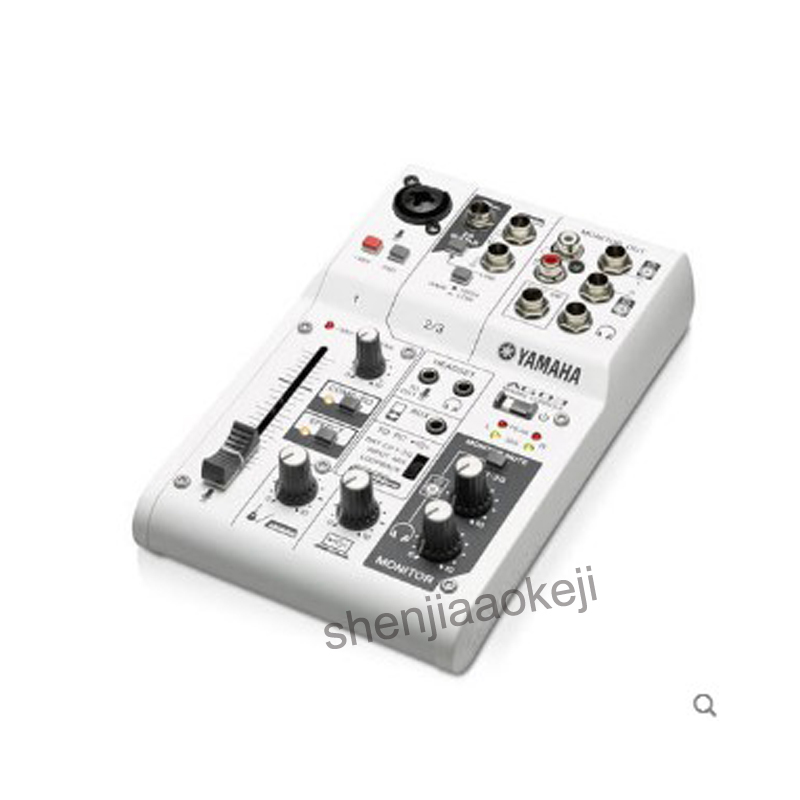 AG06 Sound card mixer K song recording anchor phone USB Interface Audio Mixer Record Card Sound Console Mixer 220v2.5w1pc felyby karaoke mixer tv k song k song karaoke tv karaoke multi functional analog sound console
