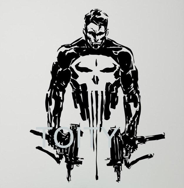 20 Design Punisher Wall Vinyl Decal Skull Gun Sticker