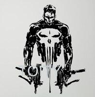 Armas Crânio Punisher Decalque De Vinil Parede Cartaz Adesivo Criativo Superhero Comics Teen Room Club Interior Home Decor Removível Mural